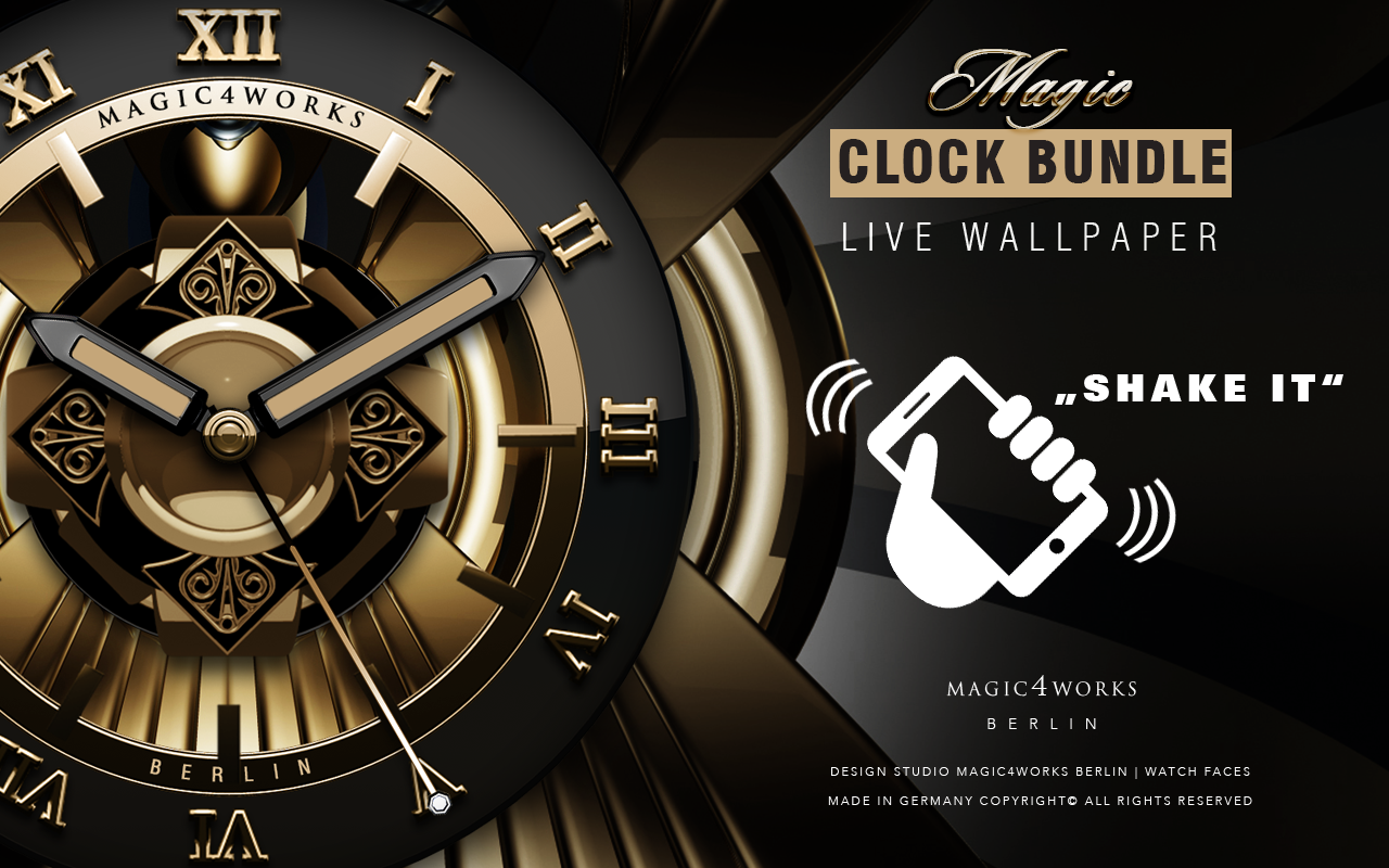 HD Analog Clock Bundle LWP 1 Screenshot 7