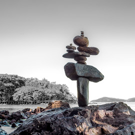 Stone Pile by rqserra by Rqserra Henrique - Artistic Objects Other Objects ( fineartphoto, minimal, rocks, contemporary, primitive, fineart, rqserra, stone )