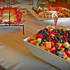 hor devours  by Sandy Stevens Krassinger - Food & Drink Plated Food ( fruit, food, meat, crackers, cheese, veggies )