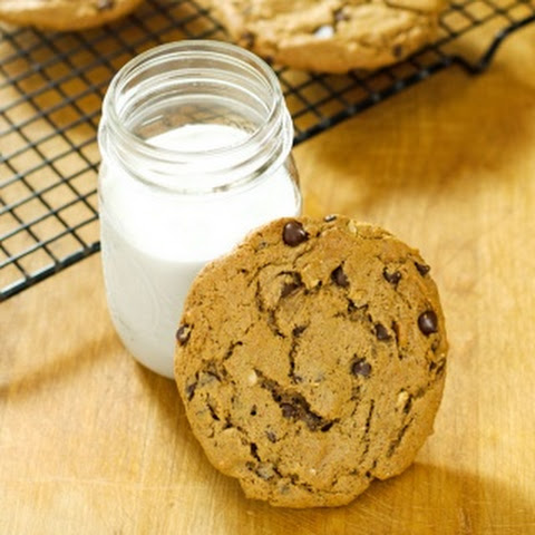 Chunky Almond Butter Chocolate Chip Cookies