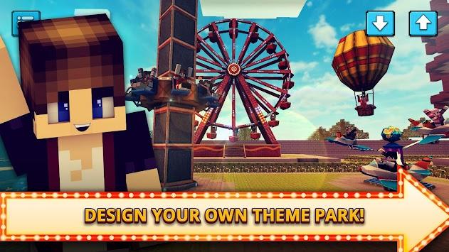 Theme Park Craft 2: Build & Ride Roller Coaster apk screenshot