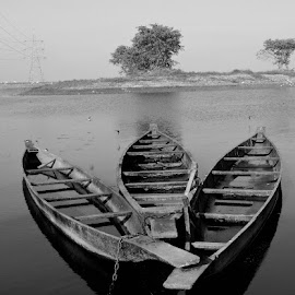 Boats by SANGEETA MENA  - Black & White Objects & Still Life (  )
