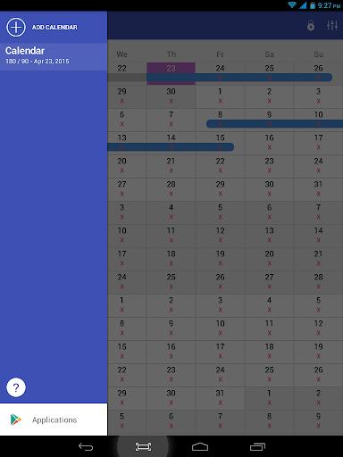 Schengen calculator - screenshot