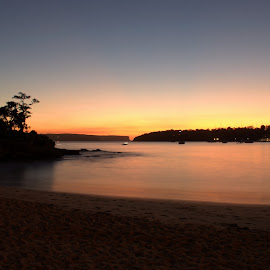 Sunrise at Balmoral Beach by Luke Rickinson - Landscapes Beaches ( water, beach, sunrise, landscape, sydney )