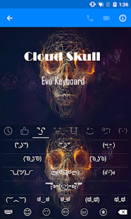 Cloud Skull Emoji Keyboard - screenshot