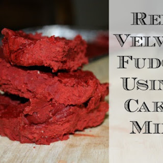 Easy Red Velvet Fudge Using Cake Mix