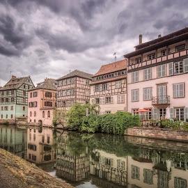Quai de la Petite France by Ole Steffensen - City,  Street & Park  Historic Districts ( quai de la petite france, la petite france, half-timbered houses, france, alsace, river ill, river bank, strasbourg,  )
