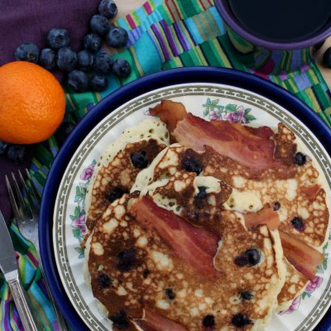 Homemade Pancake Mix + Brown Butter Blueberry Bacon Pancakes