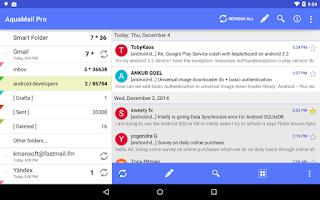 Screenshot of Aqua Mail - email app