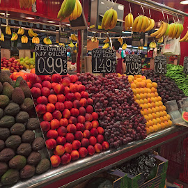 Fruit Stand by David Bair - Food & Drink Fruits & Vegetables ( fruit, grapes, bananas, food, avocado, nectarines, watermelon )