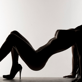 Silhouette  by Jordan Morgans - Nudes & Boudoir Artistic Nude ( nude, naked, silhouette, bodyscape, nudes )