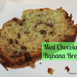 Mint Chocolate Chip Banana Bread