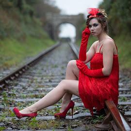 Flapper by Brian Pierce - People Portraits of Women ( railway, helston, zoe )