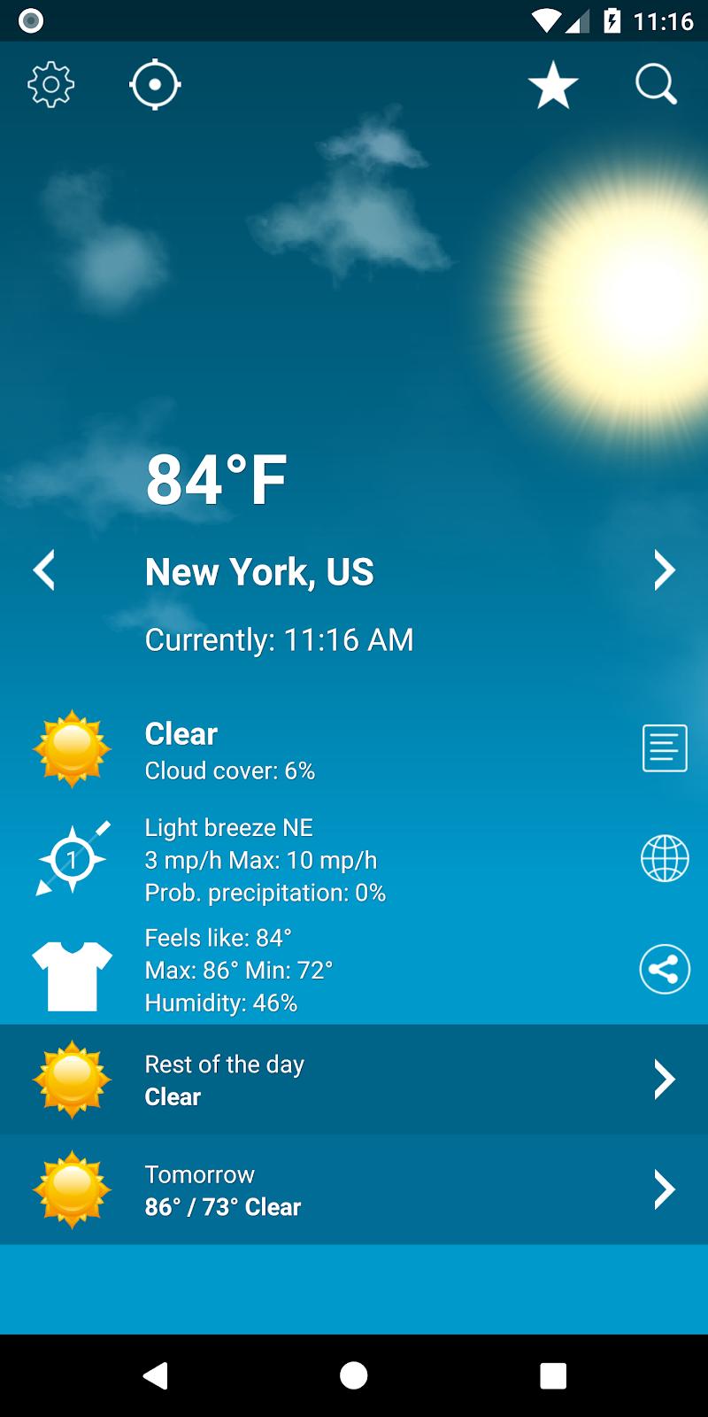 Weather XL PRO Screenshot 0