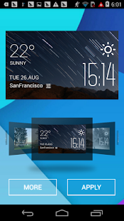 The aurora weather widget - screenshot