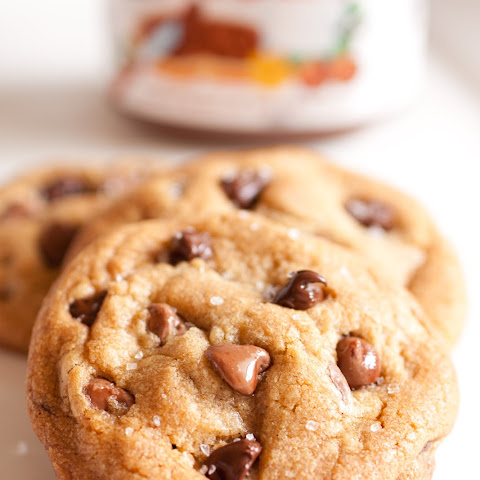 Nutella Stuffed Chocolate Chip Cookies {with Browned Butter, Vanilla Beans & Sea Salt}