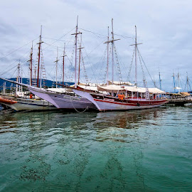 Boats in the water by Pravine Chester - Transportation Boats ( paraty, photograph, boats, ships, transportation )