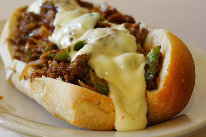 slow cooker philly cheese steak sandwiches door the cooking mom ...