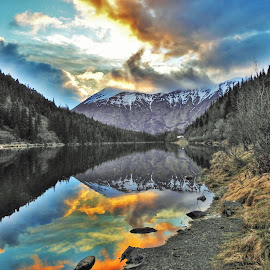 Jerome Lake by Patricia Phillips - Landscapes Travel ( lakes alaska )