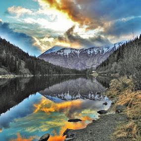 Jerome Lake by Patricia Phillips - Landscapes Travel ( lakes alaska )