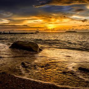 Pantai Sutera by Gerard Macorvick - Landscapes Sunsets & Sunrises