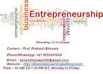 Quality Entrepreneurship Career consultation services in Kota