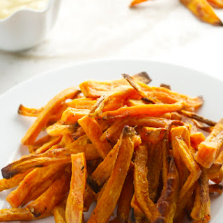Sweet Potato Fries with Honey Mustard Dipping Sauce