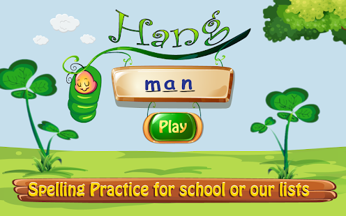 Hangman Kid's App for Spelling Word Practice Screenshot