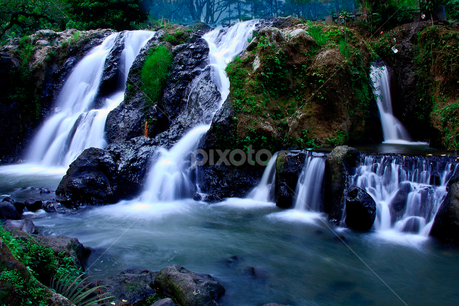 Waterfall by Basuki Mangkusudharma - Landscapes Waterscapes ( waterfall )