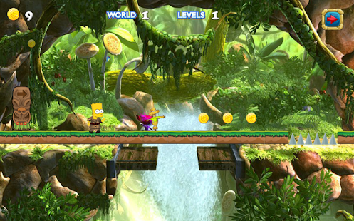 Game New Simsons Run Adventure APK for Kindle