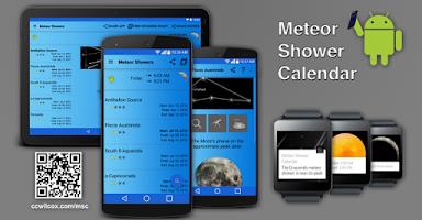 Screenshot of Meteor Shower Calendar