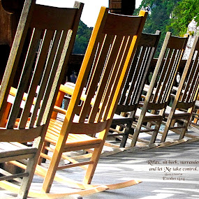 Relax by Jeff Dalton - Typography Quotes & Sentences ( chair, text, quotes, nature, rocking chairs, chairs, quote, porch, rocking chair )