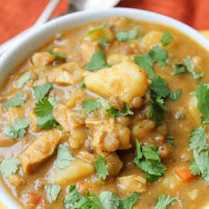 Curried Lentil & Potato Soup