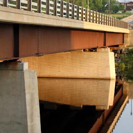Mirror Bridge by Jennifer Duffany - Buildings & Architecture Bridges & Suspended Structures ( bridgeonsalmonriver bridge salmonriver portontario mirrorbridge )