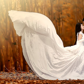 like a swan by Dimas Winarto - Wedding Bride & Groom ( prewedding, vintage, summer, swan )