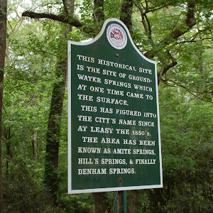 This historic site is the site of ground-water springs which at one time came to the surface. This has figured into the city's name since at least the 1850's. The area has been known as Amite ...