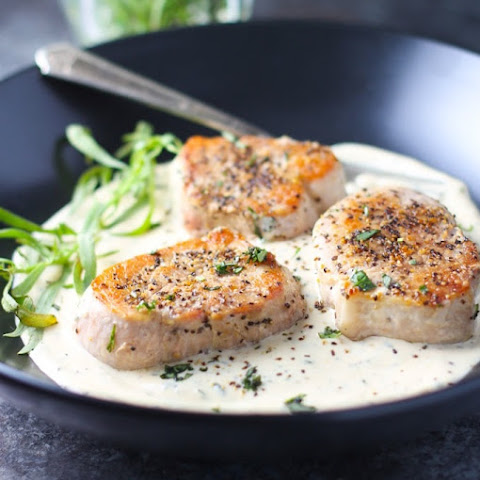 Pork Medallions with Tarragon Cream Sauce