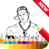 Coloring Book for WWE Fans APK for Bluestacks