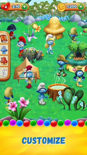 Smurfs Bubble Shooter Story screenshot 3
