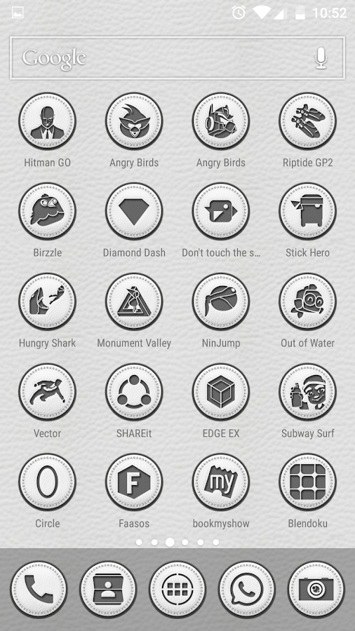 White Leather TSF Shell Theme Screenshot 7