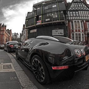 Veyron by Sorin Bogdan - Transportation Automobiles ( veyron, london, 2013, bugatti, black, city )