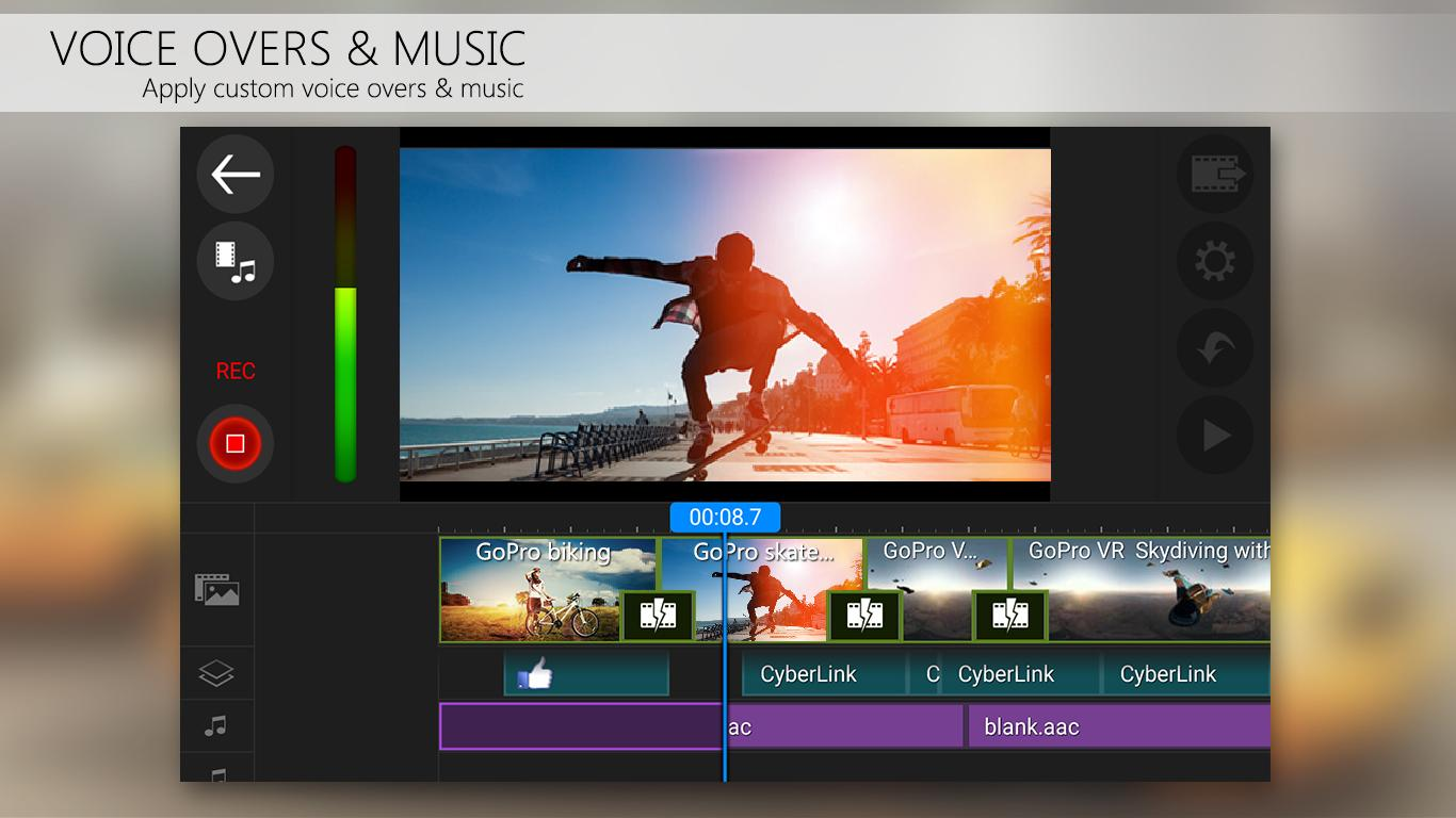 PowerDirector Video Editor App: 4K, Slow Mo & More Screenshot 4