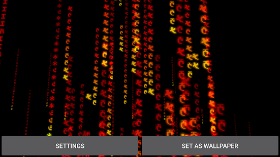 3D Matrix Rain Live Wallpaper Screenshot