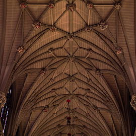 A ceiling by Kyric Designs - Buildings & Architecture Architectural Detail ( church, ceiling, beams, cathedral, st patrick's )
