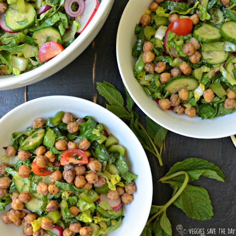 Roasted Chickpea Fattoush Salad