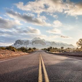 Superstition Winter by Jonathan Stolarski - Landscapes Mountains & Hills ( one7 studios, az, winter, superstition mountains, january, snow, arizona,  )