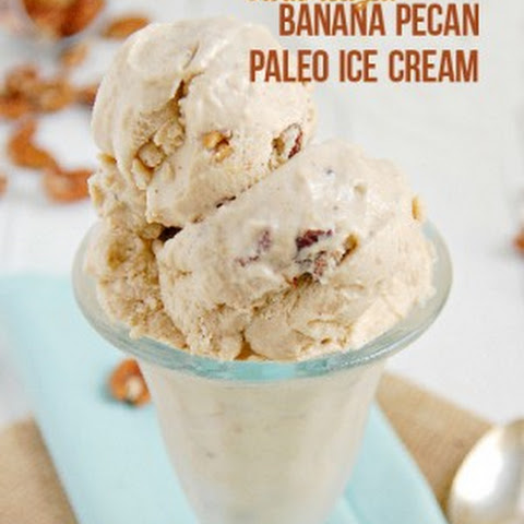 Caramelized Banana Pecan Paleo Ice Cream