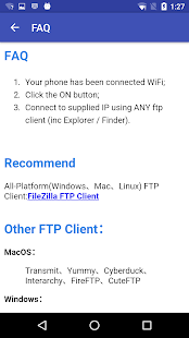 WiFi FTP (WiFi File Transfer) Screenshot