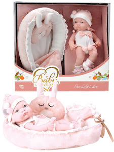 """Пупс серии """"Anna de Wailly"""" original L, с кроваткой, розовый"""