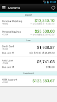 Screenshot of Associated Credit Union Mobile